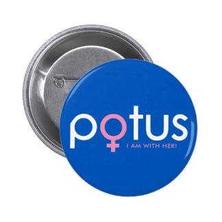 Hillary Clinton 2016 - POTUS #iamwither Pinback Button