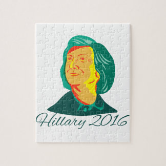 Hillary Clinton 2016 President Democrat Retro Jigsaw Puzzle