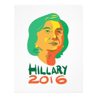 Hillary Clinton 2016 President Letterhead