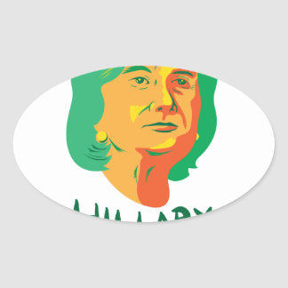 Hillary Clinton 2016 President Oval Sticker