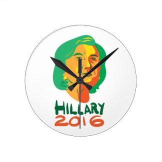 Hillary Clinton 2016 President Round Clock