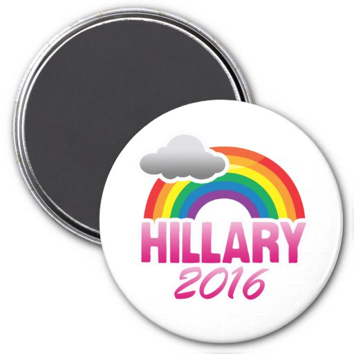 HILLARY CLINTON 2016 PRIDE -.png Refrigerator Magnets