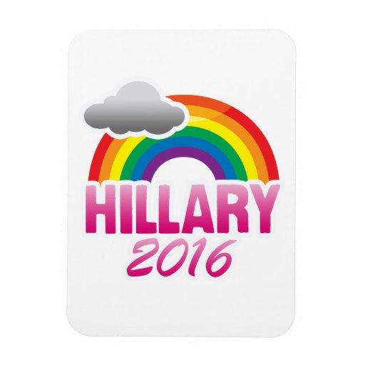 HILLARY CLINTON 2016 PRIDE -.png Rectangular Photo Magnet