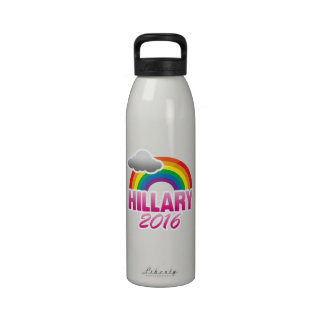 HILLARY CLINTON 2016 PRIDE -.png Drinking Bottle