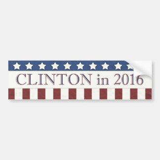 Hillary Clinton 2016 rayas de las estrellas Pegatina Para Coche
