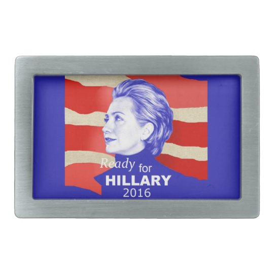 Hillary Clinton 2016 Rectangular Belt Buckle
