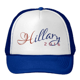 Hillary Clinton 2016 Red and Blue Logo Trucker Hat