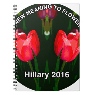 Hillary Clinton 2016 Red Flower Notebook