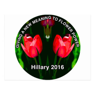 Hillary Clinton 2016 Red Flower Postcard