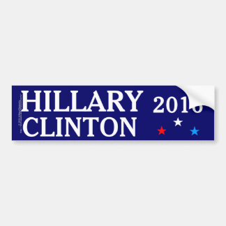 Hillary Clinton 2016, Red, White, Blue Stars Bumper Sticker