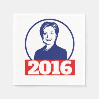 Hillary Clinton 2016 Servilletas De Papel