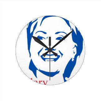 Hillary Clinton 2016 Shirt   HIllary for President Round Clock