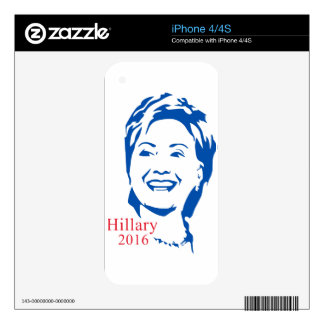 Hillary Clinton 2016 Shirt | HIllary for President Skin For iPhone 4S