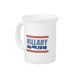 HILLARY CLINTON 2016 SIGNAGE BEVERAGE PITCHER