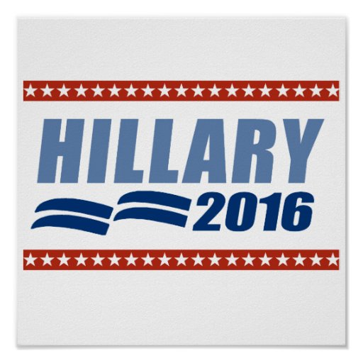 HILLARY CLINTON 2016 SIGNAGE.png Impresiones