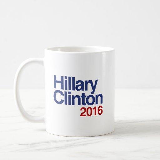 HILLARY CLINTON 2016 SIMPLE.png Classic White Coffee Mug