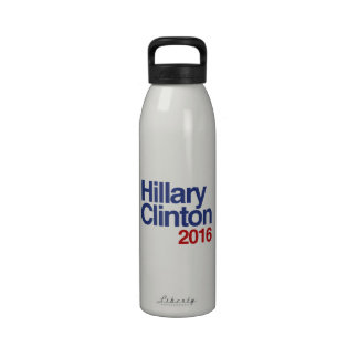 HILLARY CLINTON 2016 SIMPLE.png Water Bottle