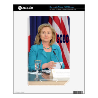 Hillary Clinton 2016 Skins For The NOOK Color