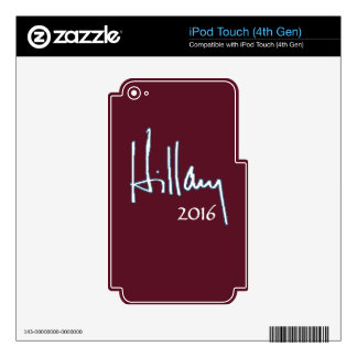 Hillary Clinton 2016 Skins For iPod Touch 4G