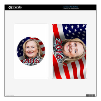 Hillary Clinton 2016 Skins For Kindle Fire