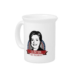 HILLARY CLINTON 2016 SPANGLE DRINK PITCHER