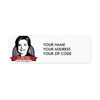 HILLARY CLINTON 2016 SPANGLE -.png Return Address Label