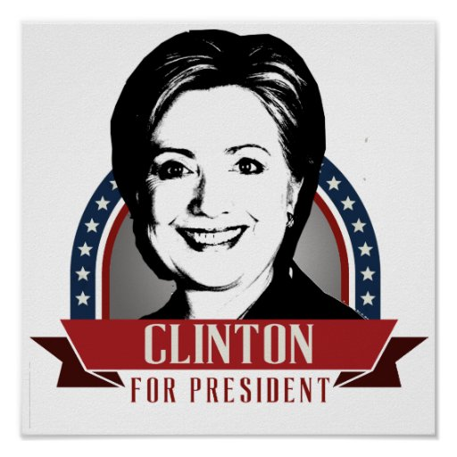 HILLARY CLINTON 2016 SPANGLE -.png Poster