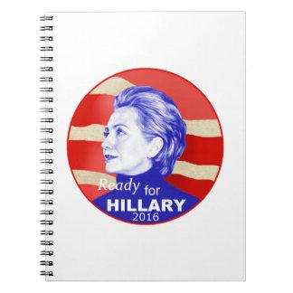 Hillary Clinton 2016 Spiral Notebook