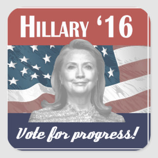 Hillary Clinton 2016 Square Sticker