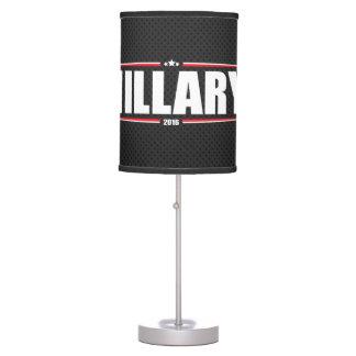 Hillary Clinton 2016 (Stars & Stripes - Black) Desk Lamps
