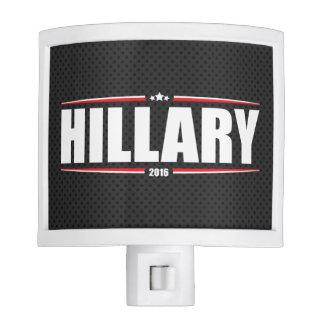 Hillary Clinton 2016 (Stars & Stripes - Black) Nite Light