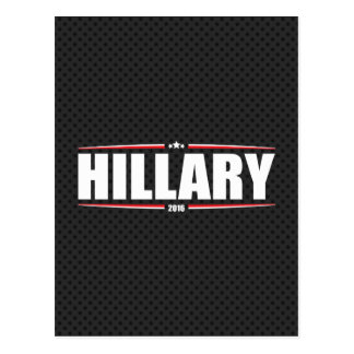 Hillary Clinton 2016 (Stars & Stripes - Black) Postcard
