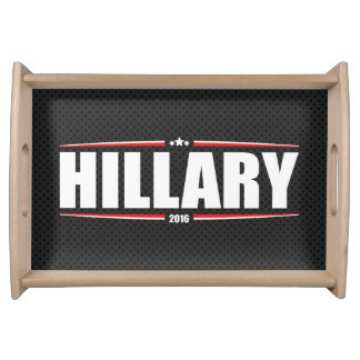 Hillary Clinton 2016 (Stars & Stripes - Black) Serving Tray