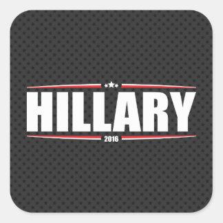Hillary Clinton 2016 (Stars & Stripes - Black) Square Sticker