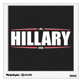Hillary Clinton 2016 (Stars & Stripes - Black) Wall Sticker