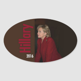 Hillary Clinton 2016 Oval Stickers