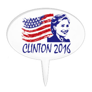 Hillary Clinton 2016 Support Items Cake Topper
