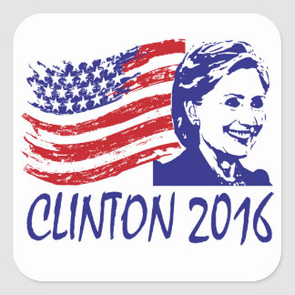 Hillary Clinton 2016 Support Items Square Sticker