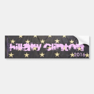 HILLARY CLINTON 2016, Supported by U.S.A. Stars Bumper Sticker