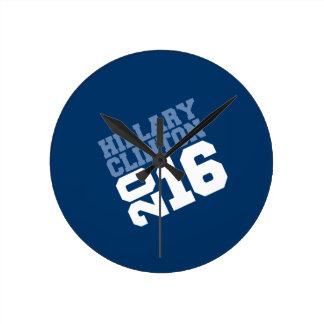 HILLARY CLINTON 2016 SWAY ROUND WALL CLOCKS