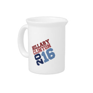 HILLARY CLINTON 2016 SWAY BEVERAGE PITCHERS