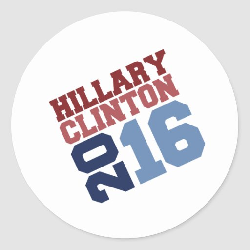 HILLARY CLINTON 2016 SWAY.png Round Stickers