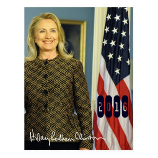 Hillary Clinton 2016 Tarjeta Postal