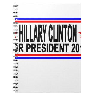 Hillary Clinton 2016 Tee Shirts.png Notebook