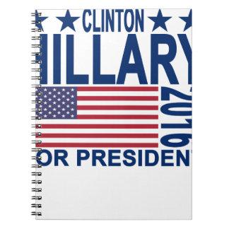 HILLARY CLINTON 2016 Tshirts.png Notebook