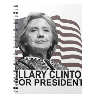 HILLARY CLINTON 2016 Tshirts ;,.png Spiral Notebook