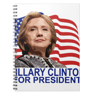 HILLARY CLINTON 2016 Tshirts ;'.png Spiral Notebook