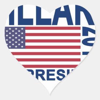 HILLARY CLINTON 2016 Tshirts.png Heart Sticker
