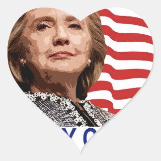 HILLARY CLINTON 2016 Tshirts ;.png Heart Sticker