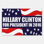 Hillary Clinton 2016 USA Flag Signs